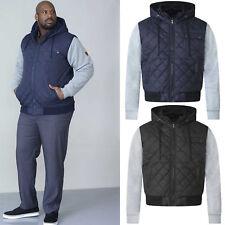 Mens Jacket D555 Duke Big King Size Padded Shower Proof Coat Hoodie Sweat Sleeve