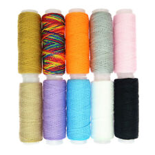 10 Rolls Spools Quality Sewing Cotton Thread Assorted Colour All Purpose