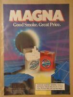 Vintage 1980's MAGNA CIGARETTES Original Print Ad Advertising