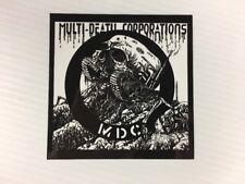 MDC - Corporate Tank Logo Sticker Vinyl 3.5 x 4.5 Hardcore Punk - BRAND NEW