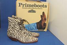 Prime Stiefelette westernstiefel Boots cowboyboots gr. 37 zebra fell pony leder