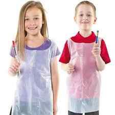 5 x Kids Disposable Apron / Pinafore - Protect clothes from paint and 'goo' :-)