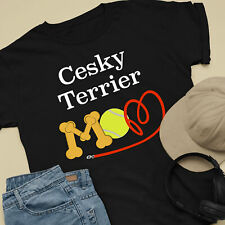Cesky Terrier Dog Mom and Dad Comfy Cute Dog Lover T-Shirt
