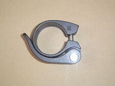 Sattelklemme mit Schnellspanner Schwarz 31,8mm Neu