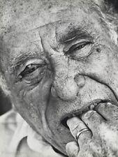 1987 Vintage Charles Bukowski Poet Writer By HERB RITTS Literature Photo Art