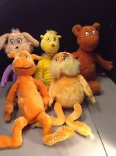 Dr Seuss Plush Lot Of 5 Characters Lorax Marvin Some Hard To Find