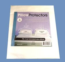 2 New Standard Size Pillow Protector Covers Pillowcase Bedding Soft Fabric Two