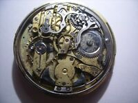 Quarter Repeater Chronograph, Pocket Watch Movement,49 mm.,To Repair or Parts