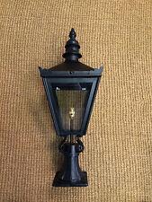 Small Pier Liight Gate Post Lantern Victorian Style Black Colour Lantern