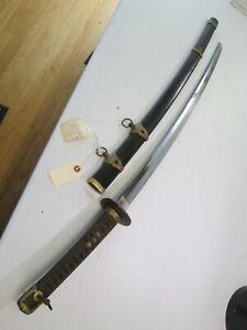 WW2 JAPANESE SWORD KATANA SIGNED MASATADA 1943 DATE MINATOGAWA NAVY GENDITO #C15
