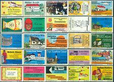 25 alte Gasthaus-Streichholzetiketten aus Deutschland #908