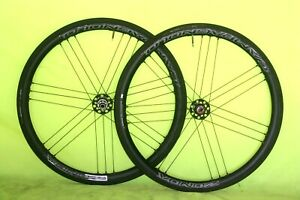 New Pair Campagnolo Zonda C17 Bolt Thru Disc Wheels  Complete with Tyres & Tubes