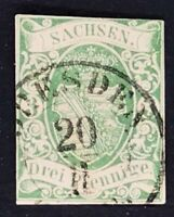 Sachsen Mi.Nr. 2 I a - gestempelt Dresden
