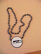 2014 SB Super Bowl 48 XLVIII Seattle Seahawks plastic beaded necklace medallion