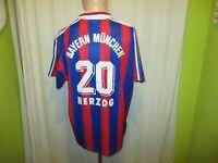 "FC Bayern München Adidas Trikot 1995-1997 ""OPEL"" + Nr.20 Herzog Gr.L TOP"