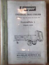 Kemper Ersatzteilliste Universal Fräs - Streuer Ausgabe E 6509