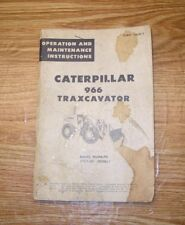 VINTAGE CATERPILLAR TRAXCAVATOR LOADER 966 OPERATION MAINTENANCE MANUAL BOOKLET