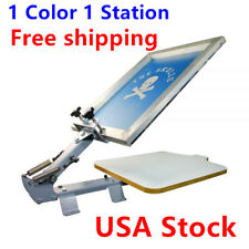 1 Color 1 Station T-Shirt Silk Screen Printing Machine Free shipping