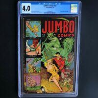JUMBO COMICS #161 (Fiction House 1952) 💥 CGC 4.0 💥 Rare PCH! GHOST GALLERY
