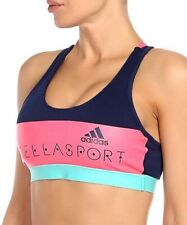 Adidas Stella McCartney Bra Damen Sport BH Push-Up Bustier Top blau/pink/türkis