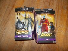Marvel legends Avenger's Black Widow + Malekith Figures w/ Cull Obsidian Parts