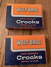 Vintage Collectible Wolf Bros. Rum Soaked Crooks Cardboard Cigar Box-Storage!