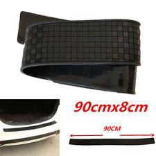 Black Car Rear Bumper Sill Protector Plate Rubber Cover Guard Pad Moulding Trim
