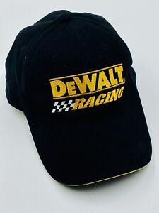 "Official Dewalt Tools Racing Strapback Hat Cap Black Yellow ""Guaranteed Tough"""