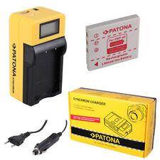 Batteria Patona + caricabatteria Synchron LCD USB per Fuji FinePix V10