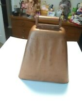 """Antique Metal with Copper Finish Cow Bell Dinner Bell 4.25""""H × 4""""W Nice Ringer"""