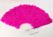 HOT PINK 30cm FEATHER FAN BURLESQUE HEN NIGHT DANCE FANCY DRESS OUTFIT COSTUME