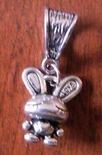 pendentif argenté lapin love 17x14 mm