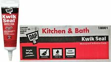 DAP 18001 Kwik Seal 5.5oz Bright White Kitchen & Bath Adhesive Caulk 12 Case