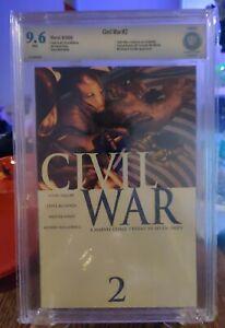 Secret Wars: Civil War #2 CBCS 9.6 SpiderMan Identity Wolverine Cap Iron Man Ap