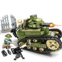 368PCS WW2 Military Renault FT17 Tank Tank Building Block cBricks Toys