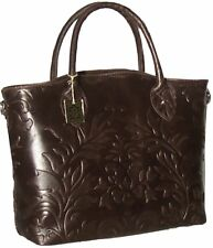 MADE IN ITALY Dark Brown Genuine Italian Leather Handbag Shoulder bag Tote