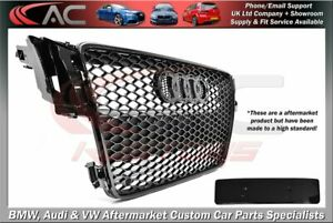 RS5 STYLE (GLOSS BLACK) FRONT GRILL (2007-2012) B8 - FIT AUDI A5 & S5