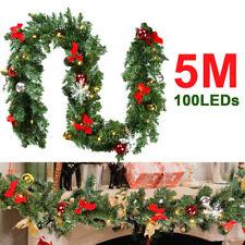 Weihnachtsgirlande Girlande Grün 5m Länge Tannengirlande Türbogen Türgirlande
