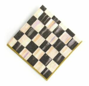 MacKenzie-Childs Courtly Check Paper Napkins Gold - Cocktail (20 per Pack)