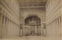 Italia Roma Basilique St Foto Vintage Albumina Ca 1880
