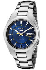 Seiko 5 SNK615 Men's Stainless Steel Blue Dial Day Date Automatic Watch