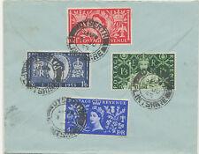 """2451 1953 QEII Coronation set FDC First Day CDS """"DYSERTH / FLINTSHIRE"""""""