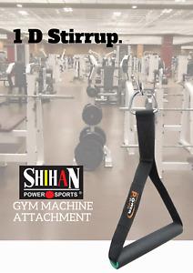 1-D STIRRUP HANDLE Strap Multi Gym Machine Attachment SINGLE Fitness Exercise