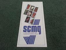 1989 SCMG SPECIALIST CARS MANUFACTURERS GROUP FOLDER BROCHURE Kit Car Jago Midas
