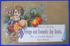 Frank C. Wood, Foreign And Domestic Dry Goods Victorian Trade Card Business