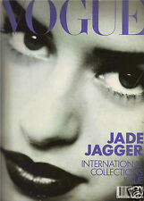 Vogue UK September 1990-Fall Collections-Jade Jagger-Mark Newson-Nicky Haslan