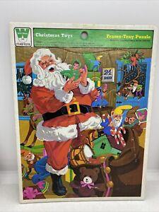 Vintage 1975 Whitman CHRISTMAS TOYS Frame Tray Puzzle 4505B
