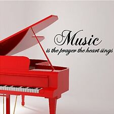 MUSIC IS THE PRAYER THE HEART SINGS Vinyl Wall Art Decal Words Lettering Decor