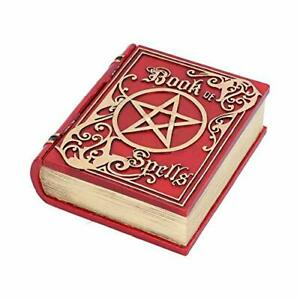 Red Book of Spells Red Box - Secret Storage Box For Witches - Wicca Pentagram
