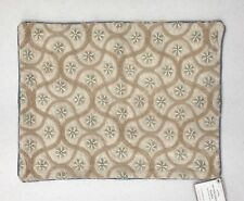 """NEW Pottery Barn Star Embroidered 12 x 16"""" Boudoir Lumbar Pillow Cover"""